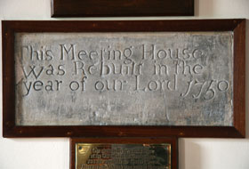 Meeting House Stone Placard