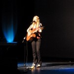 Singer-songwriter Eilidh Patterson from Derry on stage at An Grianán.
