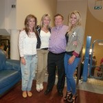 The Rev Jim Lamont welcomes (from left) Louise Magee, Holly Lyons and Carly